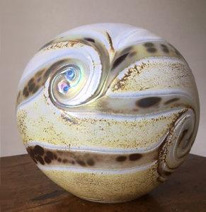 Glazen Bol Urn Elements Line Ivory