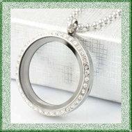 Medaillon-rvs-rond-met-strass-steentjes