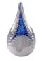 Kristalglas druppel blauw wit voor as