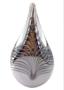 Kristalglas druppel cognac met as